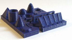 3D Printing Test - Improoved Result - Blue PLA