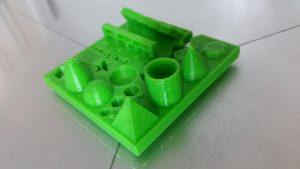 3d printing test - improoved result - Green PLA