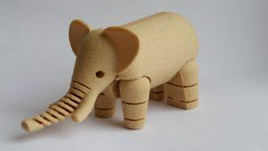 Wood Filament - 3D Printing Material - Elephant Toy