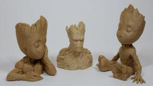 Groot Flower Planter, Groot Bust and Baby Groot Toy