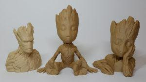 3D Printing in Wood - Groot Trio Front