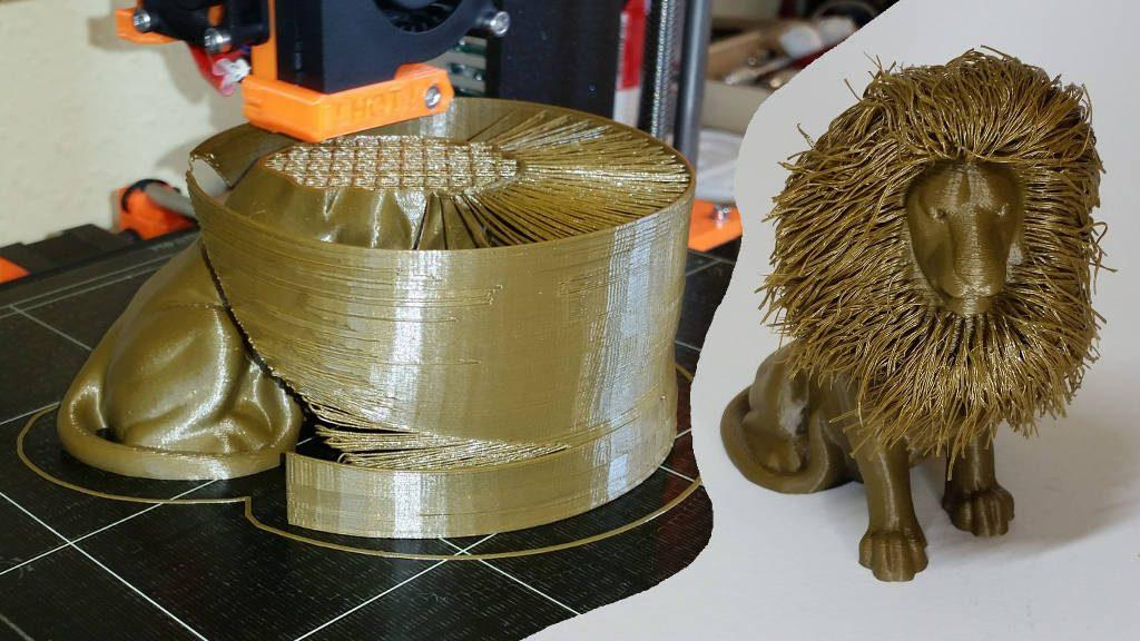 3D Printing Gallery - Hairy Lion - Designed by Primoz Cepin