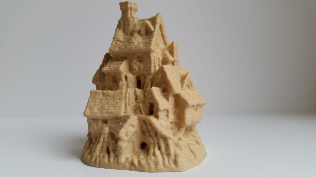 Houses on the Rock in wood filament
