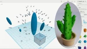 3D Design Software for 3D Printing - Cactus in a Pot