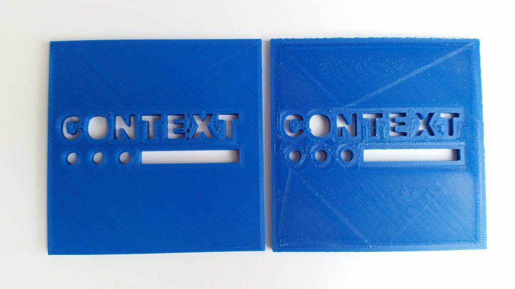 3D Printed Logo - Extrusion Multiplier Fail