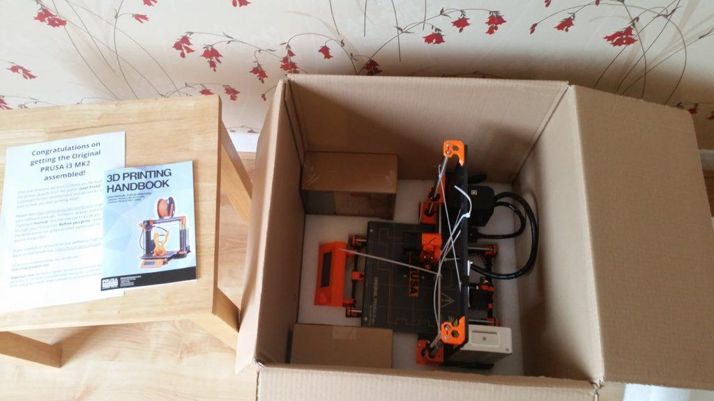 Original Prusa i3 MK2 Assembled Unboxing
