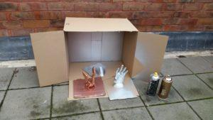 Cardboard box on the terrace