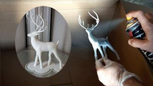 Spray Painting 3D Prints Christmas Deer TN