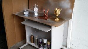 Ideal Spray Painting Station in The Garage