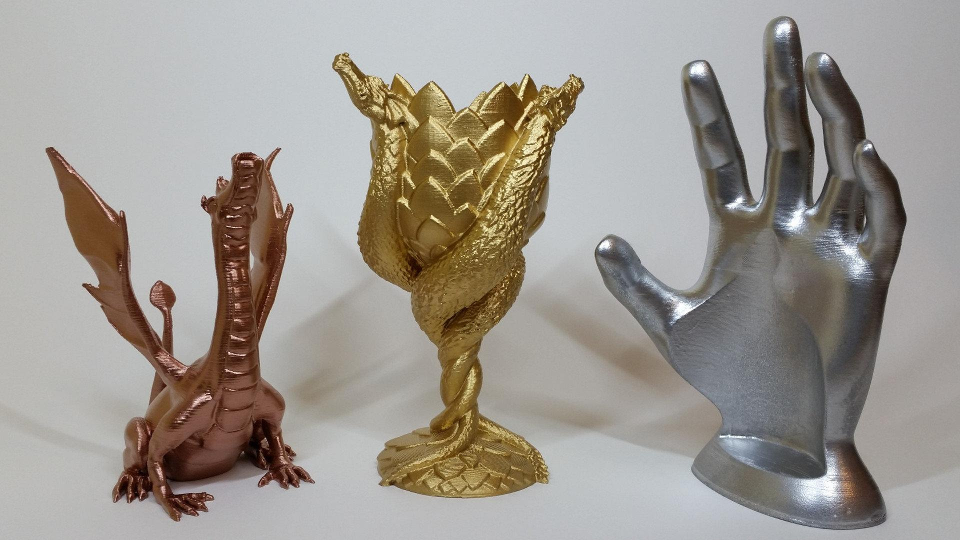 Spray Painting 3d Prints Adalina Dragon Cup And Wine Hand Tn1 3dwithus