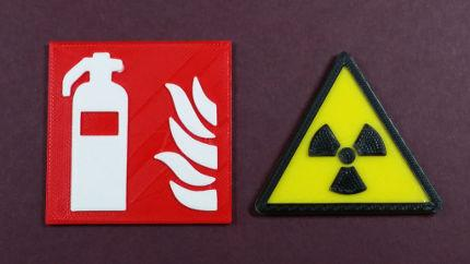 Multicolor 3D Printing - Thumbnail - Fire and Warning Signs