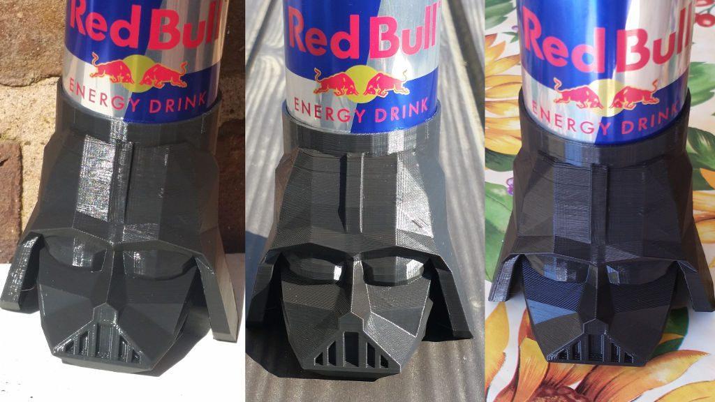 Darth Vader Koozie on Different Backgrounds