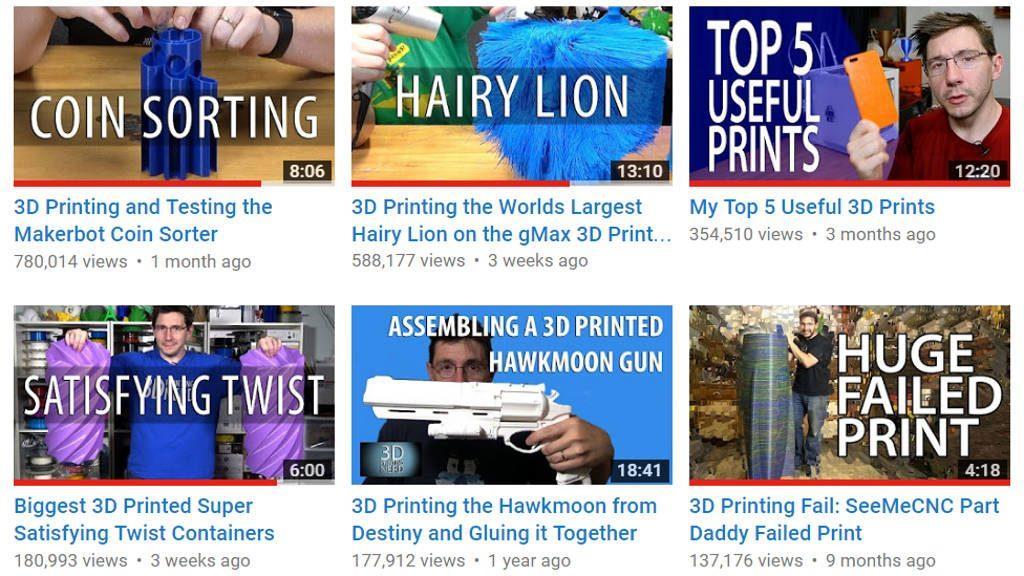 Joel Telling aka 3D Printing Nerd - YouTube Channel