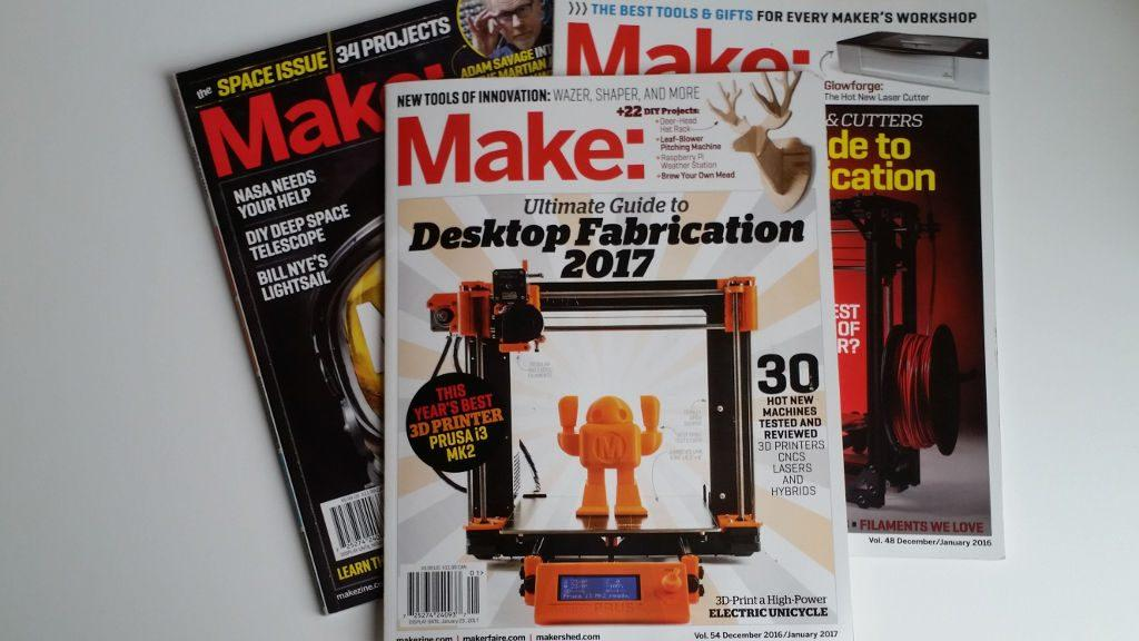 Original Prusa i3 MK2 in Make Magazine - 3DWithUs