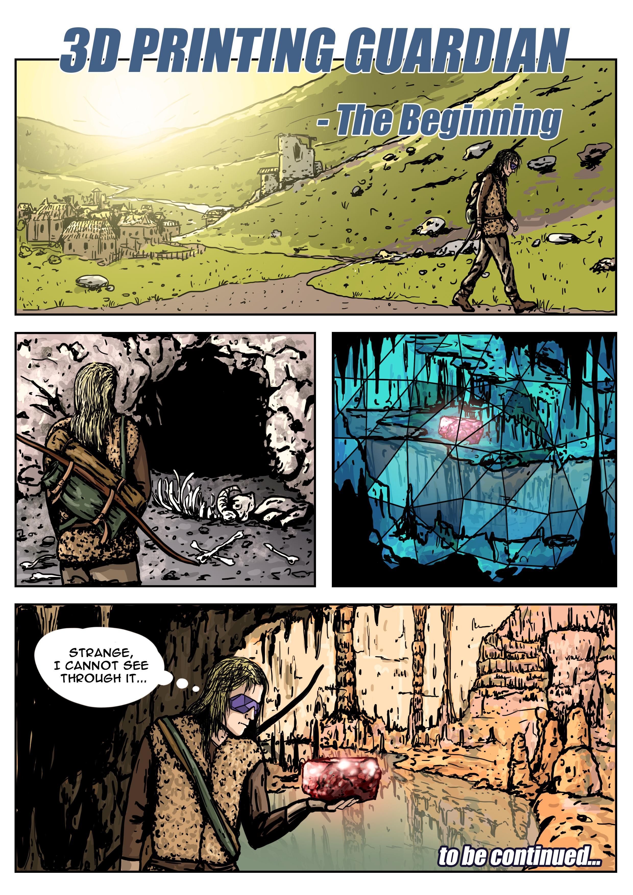 3d strip comic