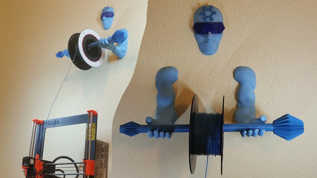Wall Mounted Spool Holder 3d Printing Guardian