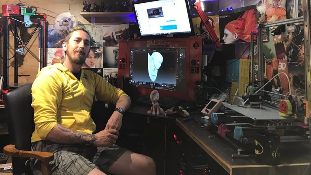 Ryan aka 3D Printed Aspie in Workshop