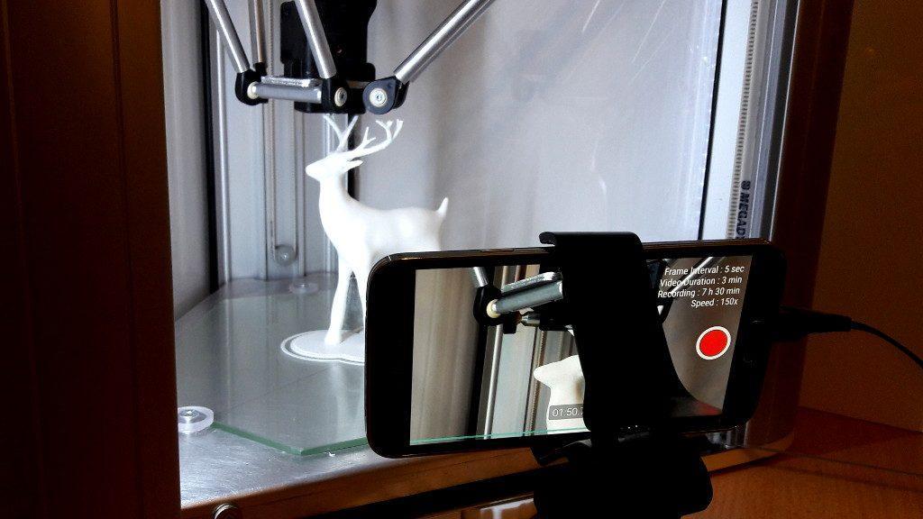 Framelapse in Action - DeltaWasp2040 3D Printing Christmas Deer - 12 Hour Time-laspe