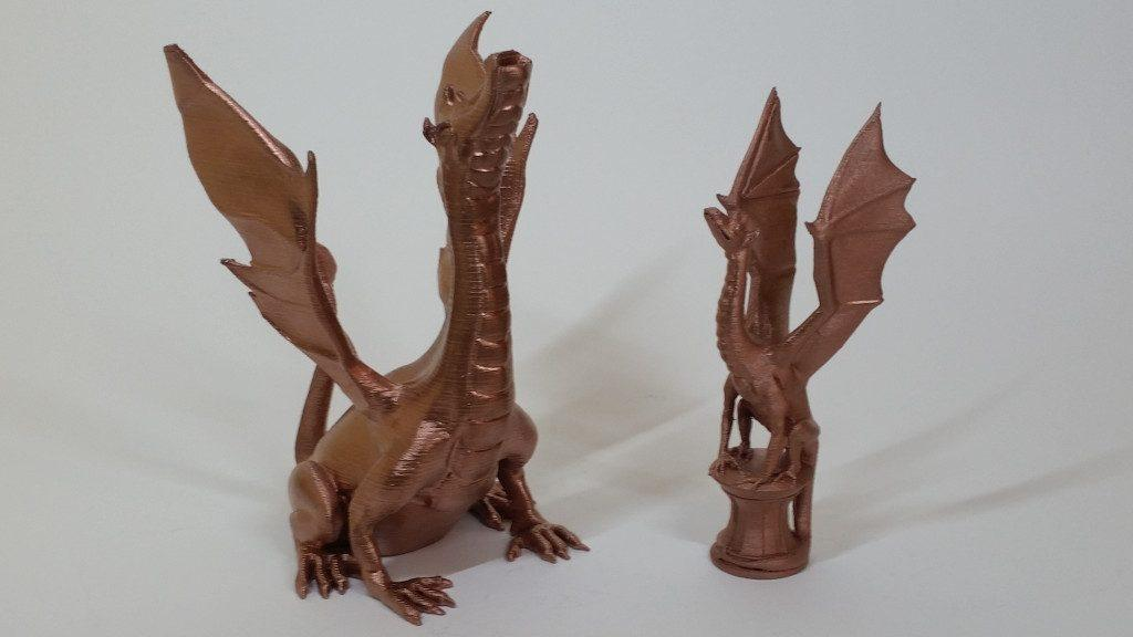 Spray Painting 3D Printed Models Gallery - Dragons