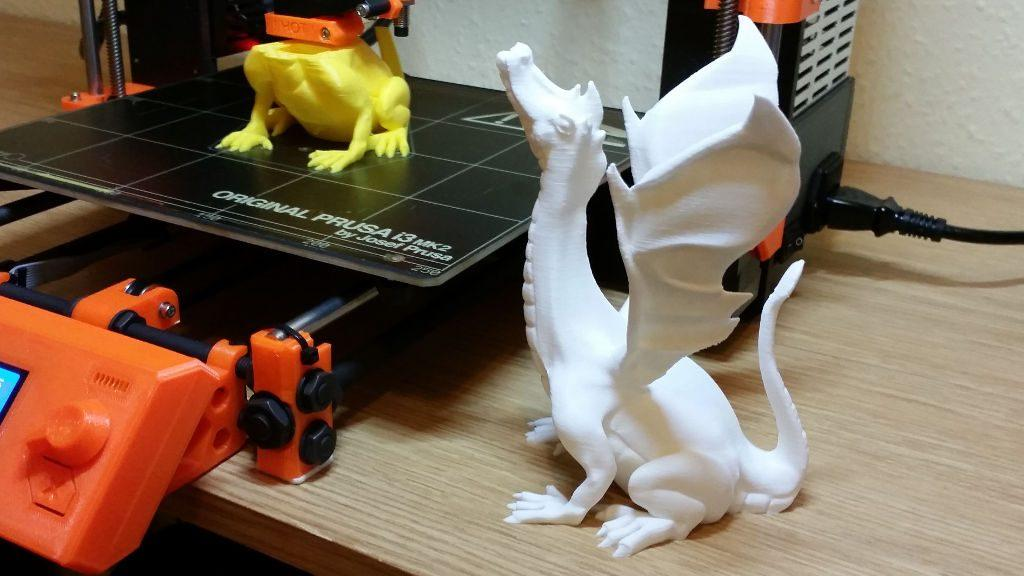 Spray Painting 3D Printed Models Gallery - Dragons Before