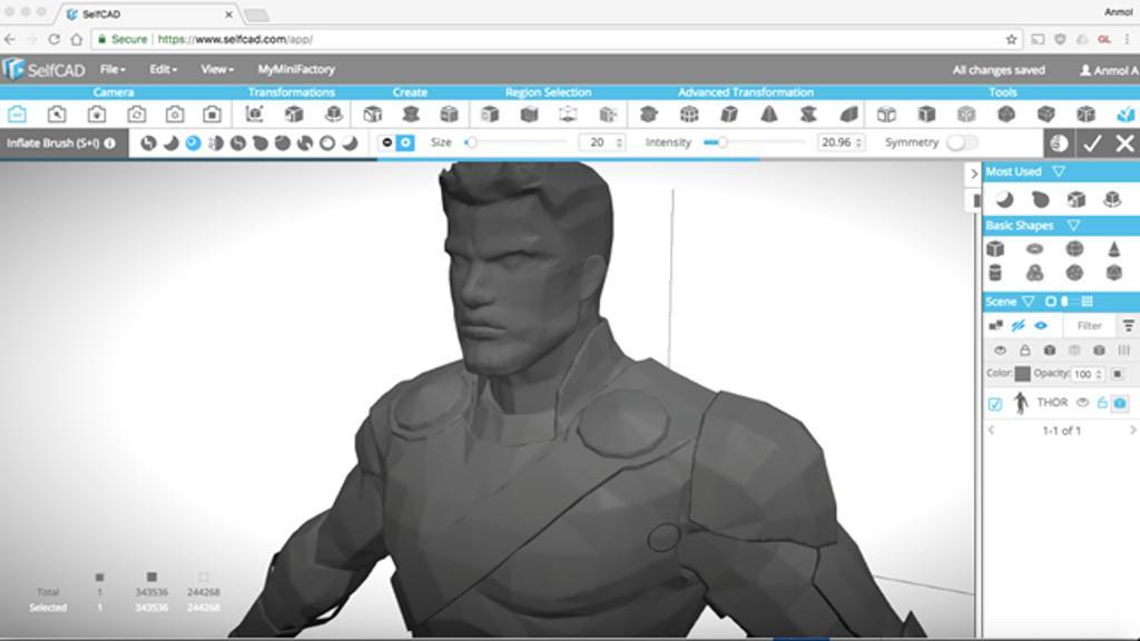 Selfcad 3d Design Software Thor Ragnarok By Anmolmaker 3dwithus