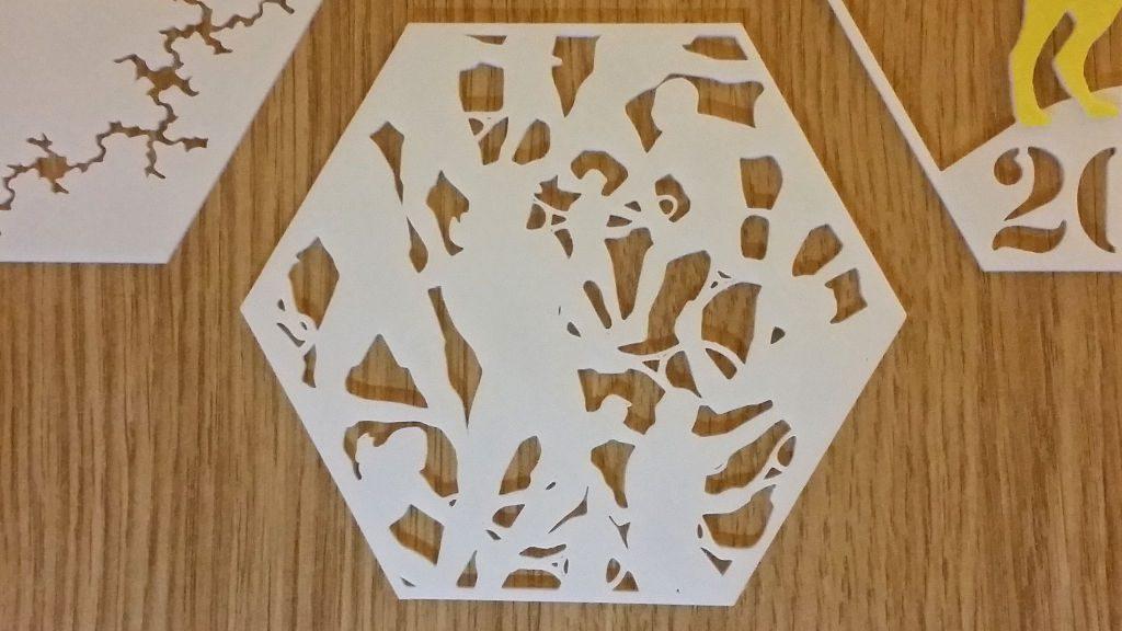 3D Printed Hexagon - Wimbledon Tennis