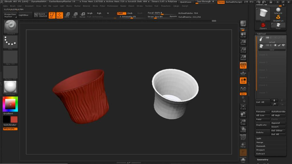 3D Designing in ZBrush - Easter Bunny Themed Pot